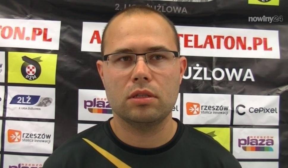 Film do artykułu: Dawid Cysarz, menadżer KSM Krosno po meczu ze Stalą Rzeszów: W kilku wyścigach pokazaliśmy się z dobrej strony [WIDEO]