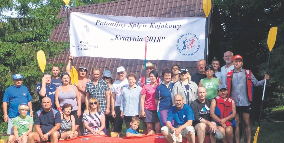 Pierwszy turnus  Polonijnego Spływu Kajakowego Krutynia 2018 w stanicy PTTK w Ukcie. W sumie przepłynęliśmy ponad sto kilometrów. Polonia białoruska