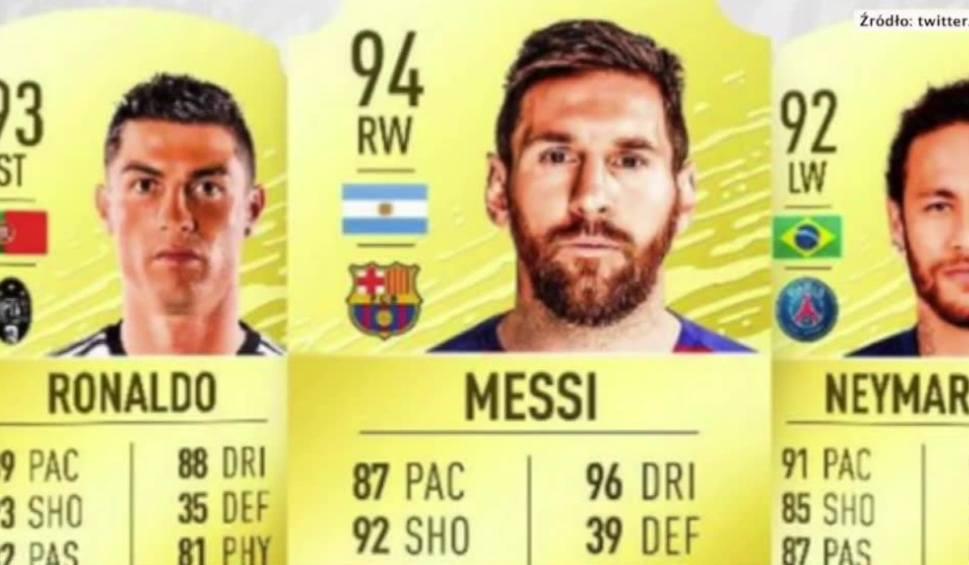 Film do artykułu: FIFA 20: Messi z najwyższą oceną ogólną w grze, Cristiano Ronaldo za jego plecami