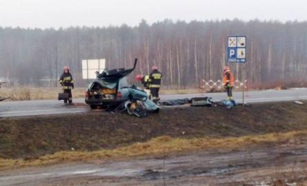 Wypadek na krajowej ósemce