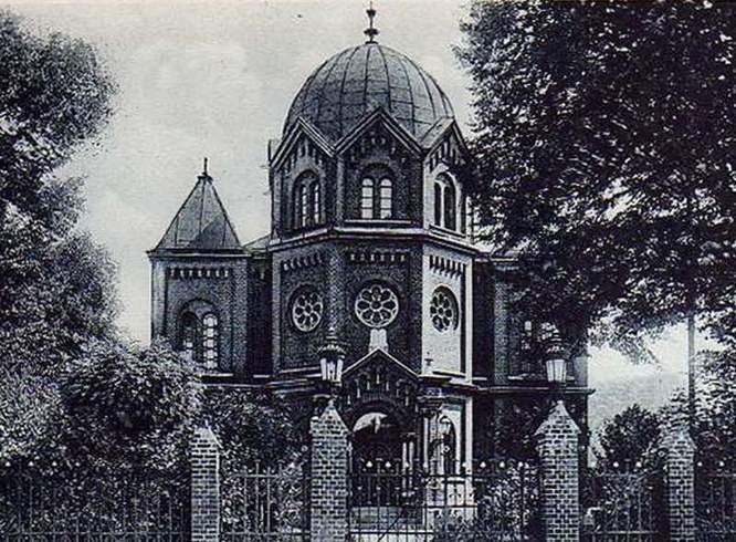 Synagoga stała przy dzisiejszej ulicy 24 Kwietnia. Spłonęła 9 listopada 1938 roku