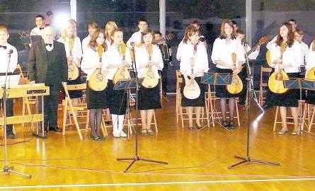 Orkiestra mandolinowa z Kęsowa.