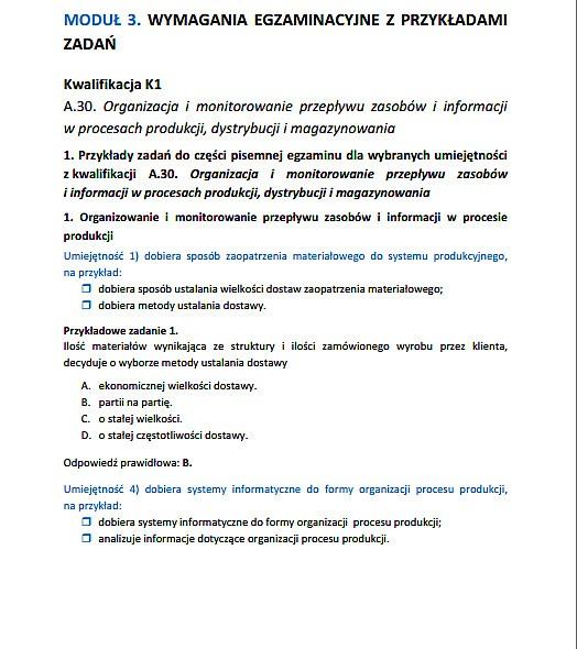 Nowy Egzamin Zawodowy 2014 Technik Logistyk Arkusze Pytania
