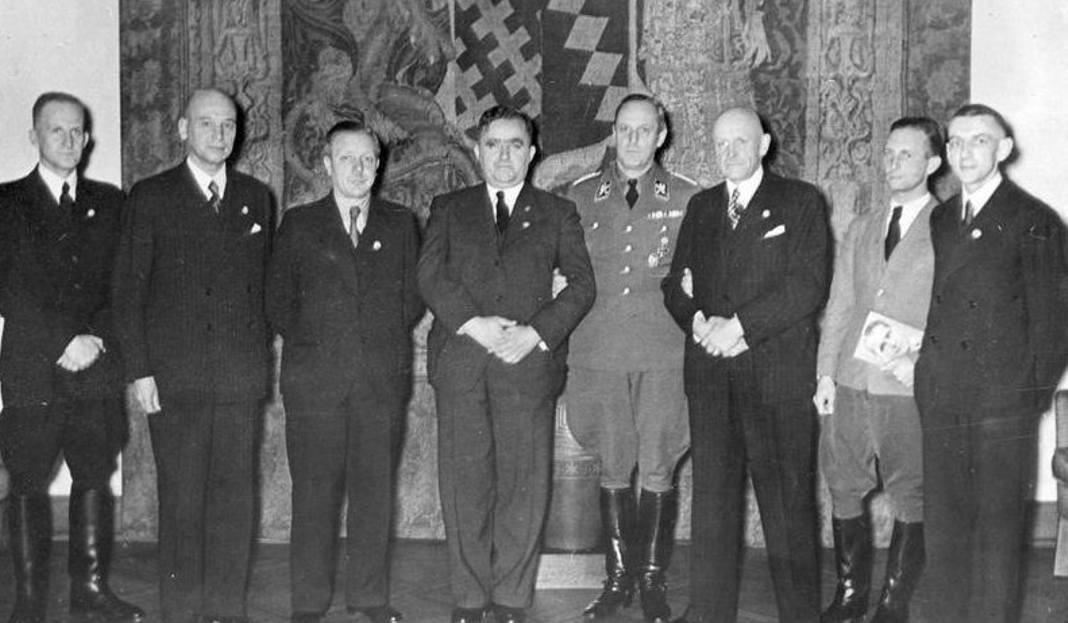 O. Ulitz prezes Volksbundu na Górnym Śląsku u Hitlera