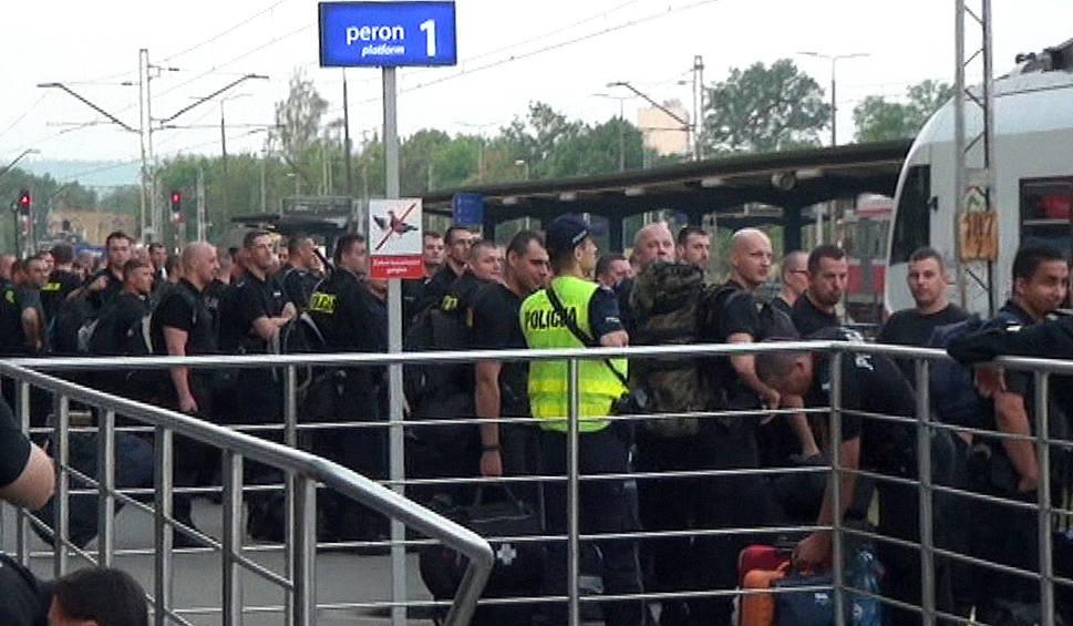 Film do artykułu: Świętokrzyscy policjanci ruszyli rano specjalnym pociągiem na Światowe Dni Młodzieży