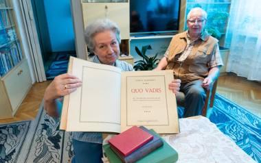 Rodzice Haliny Rutkowskiej (na zdjęciu) ukryli wydanie Quo Vadis z 1910 roku w jej kołysce, kiedy w 1945 roku jechali z sowieckiego Grodna do Białegostoku.