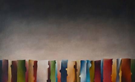 Kompozycja I, olej, płótno, 150x100 cm, 2014