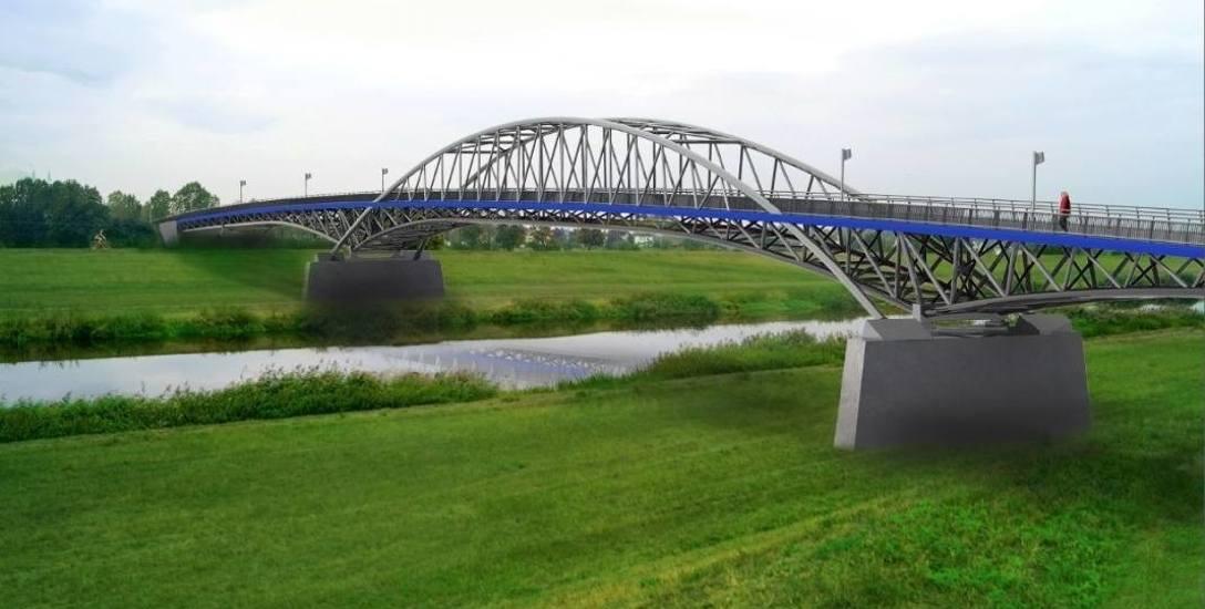 Projekt kładki pieszo-rowerowej nad Kanałem Ulgi w Opolu