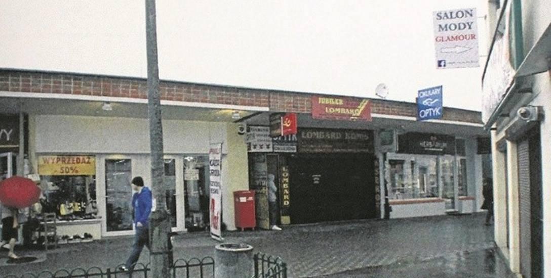 Pawilon przy Orzechowej, w którym doszło do napadu na pocztę