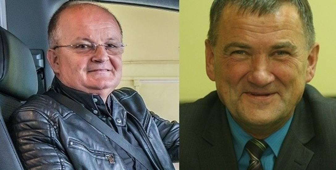 Mieszkańcy donieśli do prokuratury na wójta Chełmca Bernarda Stawiarskiego (z prawej) i przewodniczącego rady Józefa Zygmunta