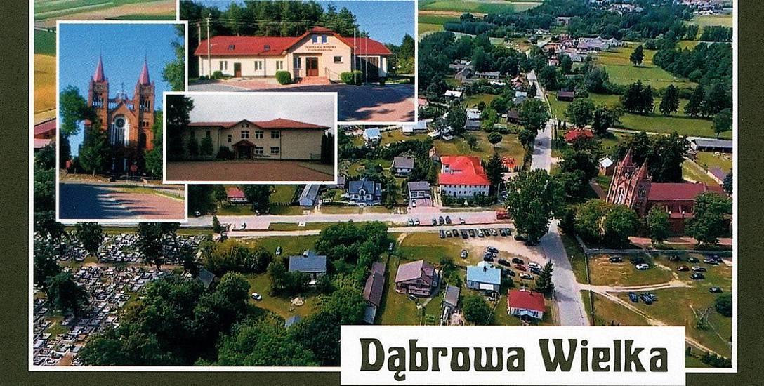 Założona na początku XV w. Dąbrowa Wielka położona jest w pow. wysokomazowieckim. W 1890 r. wieś stała się siedzibą urzędu gminy Szepietowo.