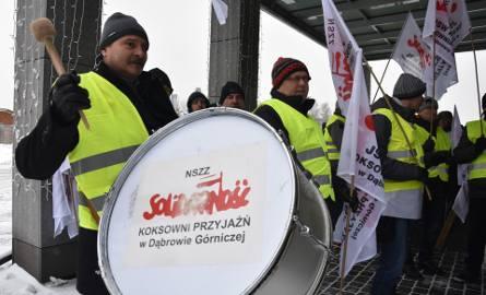 Protest związkowców JSW, 11 stycznia 2019