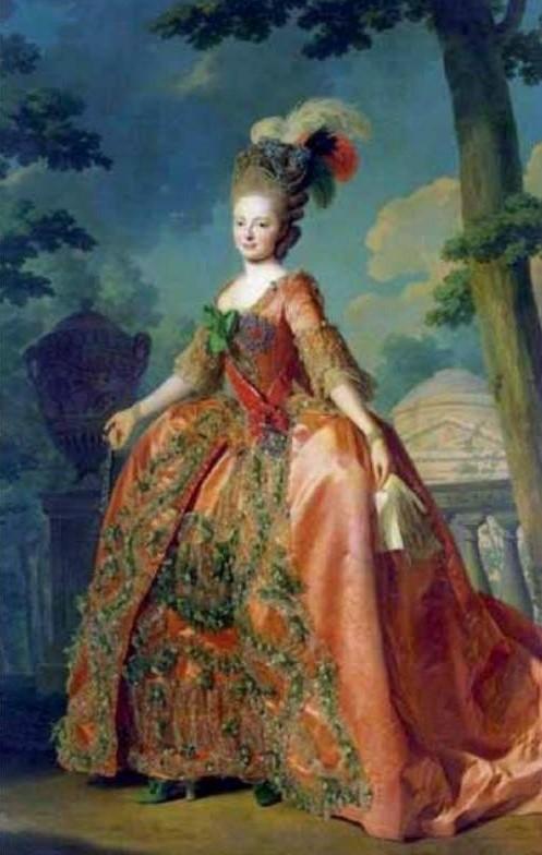 Obraz Marii Fiodorowny z okresu, gdy była jeszcze wielką księżną rosyjską