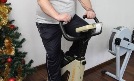 Andrzej OsosińskiWyniki pomiarów: wydolność 2, gibkość 33 centymetry, siła prawej ręki 0,9 bara, siła lewej ręki 0,86 bara