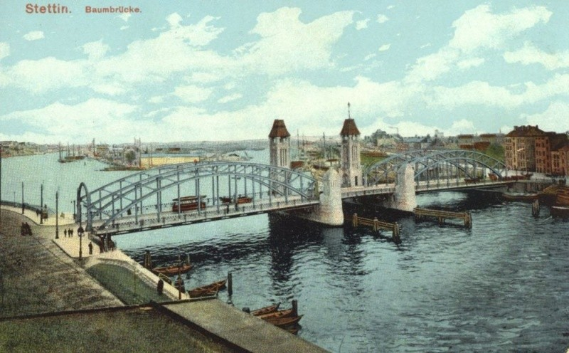 Most Kłodny był przed wojną najbardziej reprezentacyjną przeprawą Szczecina