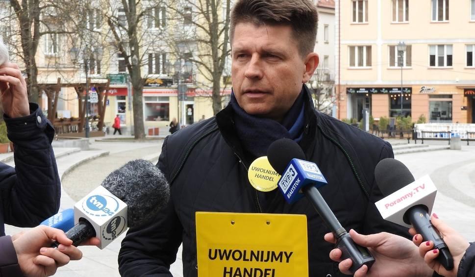 Film do artykułu: Ryszard Petru promuje w Białymstoku akcję: Uwolnijmy handel. Ruszyła zbiórka podpisów pod projektem ustawy przeciwko niedzielnemu zakazowi