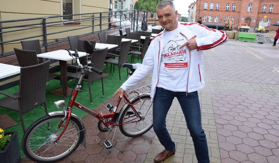 Film do artykułu: Emeryt ze Szczecinka chce okrążyć Polskę na składaku