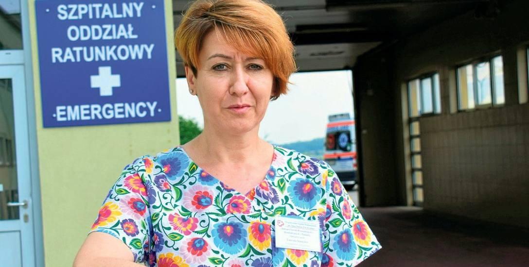 Lucyna Sznajder walczy o to, aby dyrekcja szpitala w Krośnie zatrudniła dodatkowe pielęgniarki i położne.