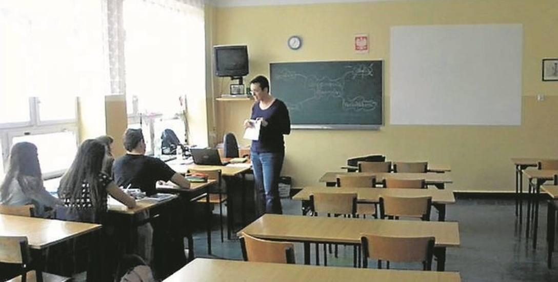 W Łodzi w gimnazjach  było pusto