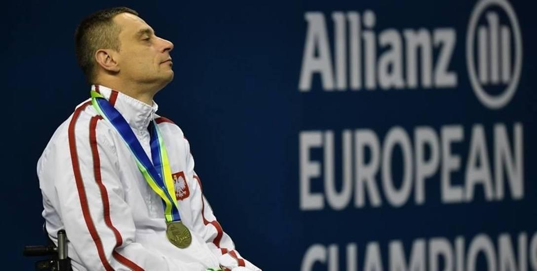 Jacek Czech ze złotym medalem mistrzostw Europy w Dublinie na szyi