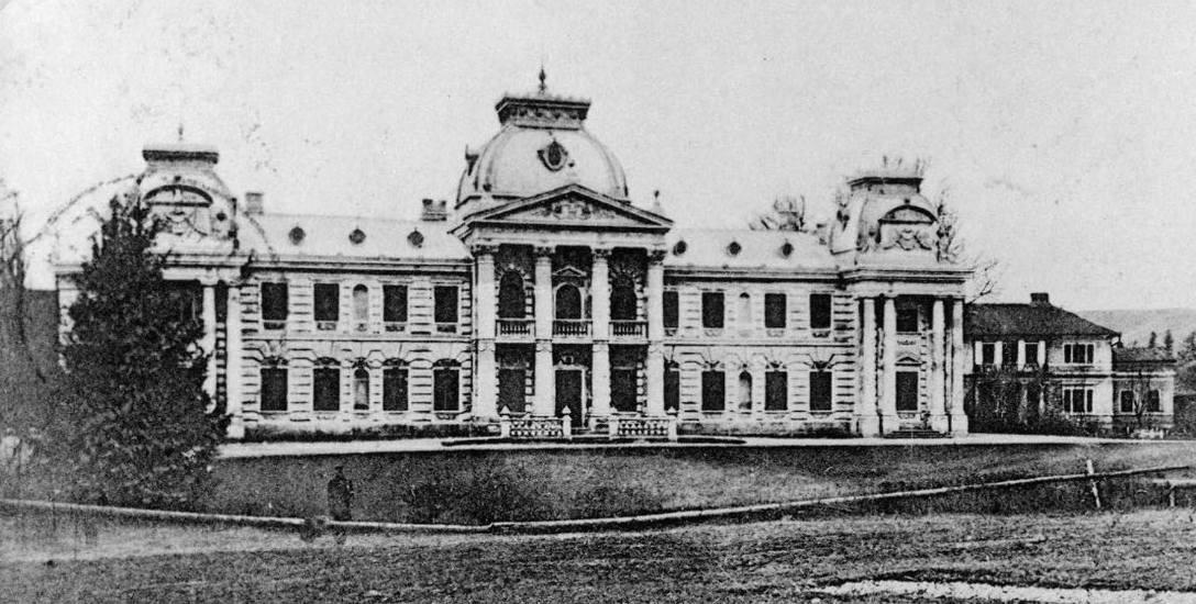 Pałac hrabiów Badenich w Koropcu. Ze zb. Piotra Pinińskiego z Londynu – prezesa Fundacji Lanckorońskich