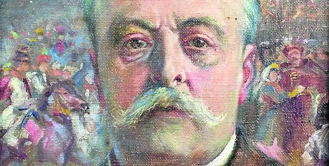 Franciszek Zajkowski, portret Juliusza Kossaka (fragment)