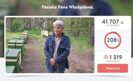 Pieniądze na pomoc dla pana Władysława w serwisie Pomagam.pl zbierano wiosną