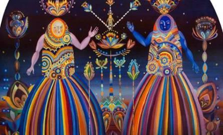 W 2015 roku wystawa została zaprezentowana w Centralnym Muzeum Włókiennictwa w Łodzi. Na zdjęciu obraz Karoliny Matyjaszkowicz