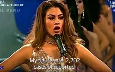 """""""Moje wymiary to 2202 zamordowane kobiety"""". Szokująca akcja kandydatek na Miss"""