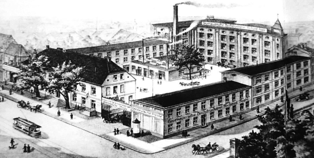 Pierwszą drukarnię przy ul. Poznańskiej 35 (ówczesna numeracja) Andrzej Fryderyk Gruenauer otworzył w 1806 roku, po czym w 1815 r. przeniósł ją do nowej