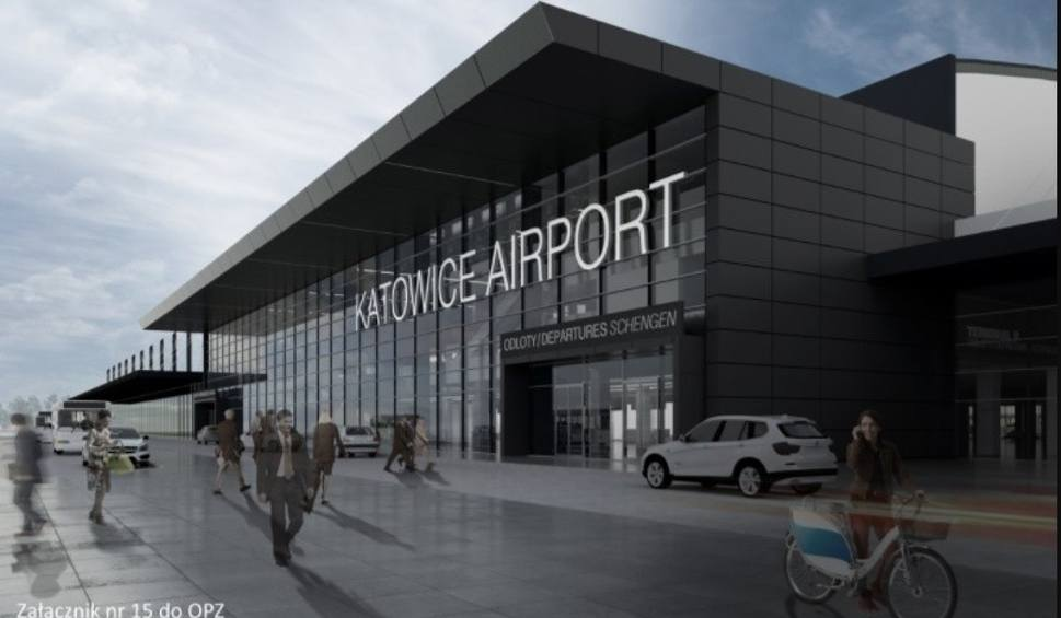 Film do artykułu: To dziś najstarszy terminal na lotnisku w Pyrzowicach. Ale będzie modernizacja WIZUALIZACJE