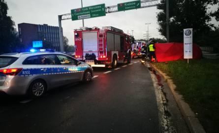 Wypadek śmiertelny na DK 86 w Katowicach