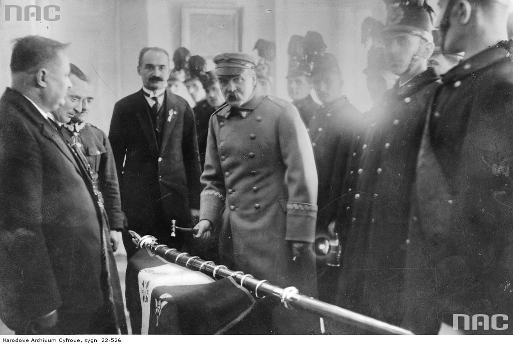Józef Piłsudski z ludnością Górnego Śląska, 1930 rok