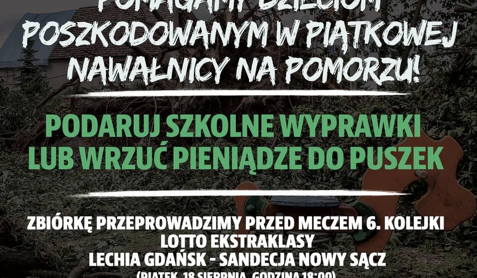Film do artykułu: Pomóż z Lechią Gdańsk dzieciom poszkodowanym w piątkowej nawałnicy na Pomorzu