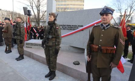 Odsłonięcie pomnika Armii Krajowej na placu Hallera w Łodzi [ZDJĘCIA]