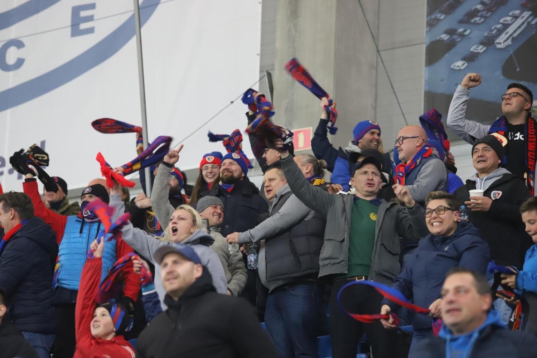 Kibice Piasta Gliwice fetowali wygraną z Legią [ZDJĘCIA]