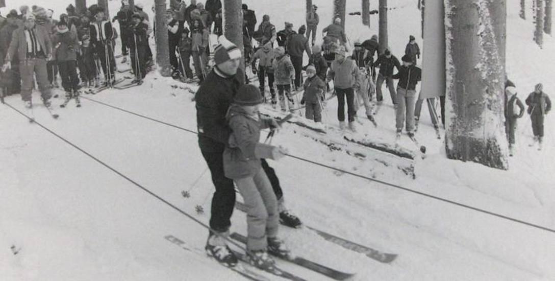 Górka narciarza. Zdjęcie z 1985 roku.