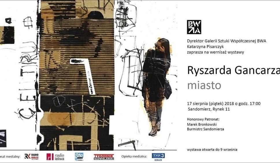 Film do artykułu: Wernisaż wystawy Ryszard Gancarz - miasto w Biurze Wystaw Artystycznych w Sandomierzu