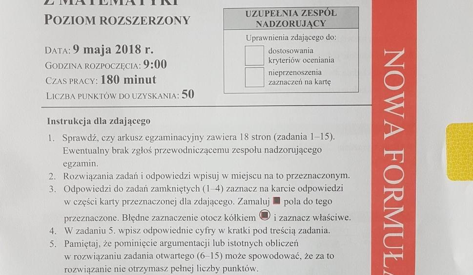 Film do artykułu: MATURA 2018 - MATEMATYKA ROZSZERZONA. Sprawdź pytania, odpowiedzi i arkusze po zakończeniu egzaminu