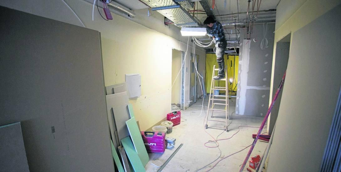 Na budowanym oddziale byliśmy na początku roku. Teraz prace wykończeniowe są już na finiszu