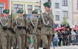 Musztra paradna Straży Granicznej na rozpoczęcie Święta Miasta