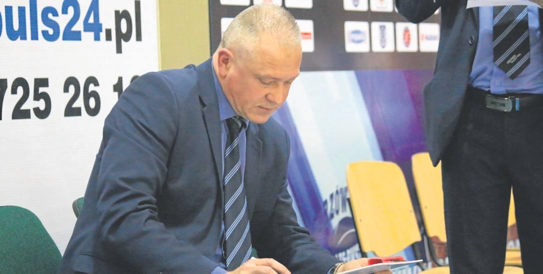 Dariusz Maciejewski, trener AZS AJP, nie miał powodów do nerwów