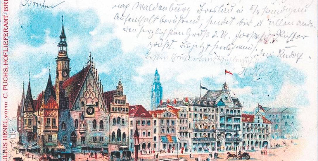 Rynek, widok na dom handlowy Julius Henel v. C. Fuchs