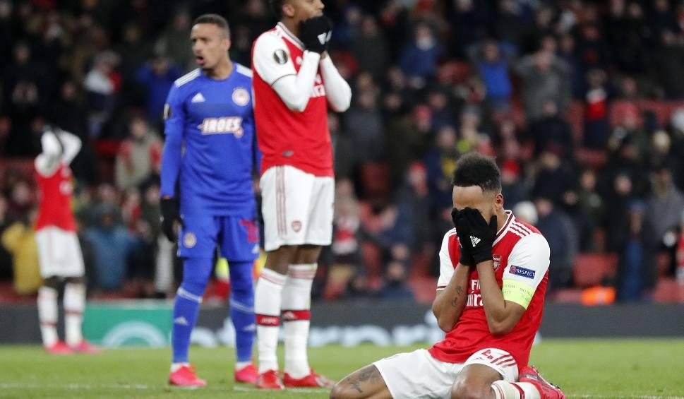 """Film do artykułu: Sensacja w Londynie. Arsenal odpadł z LE z Olympiakosem. """"To boli. I to bardzo. Pokładaliśmy ogromne nadzieje w tych rozgrywkach"""""""