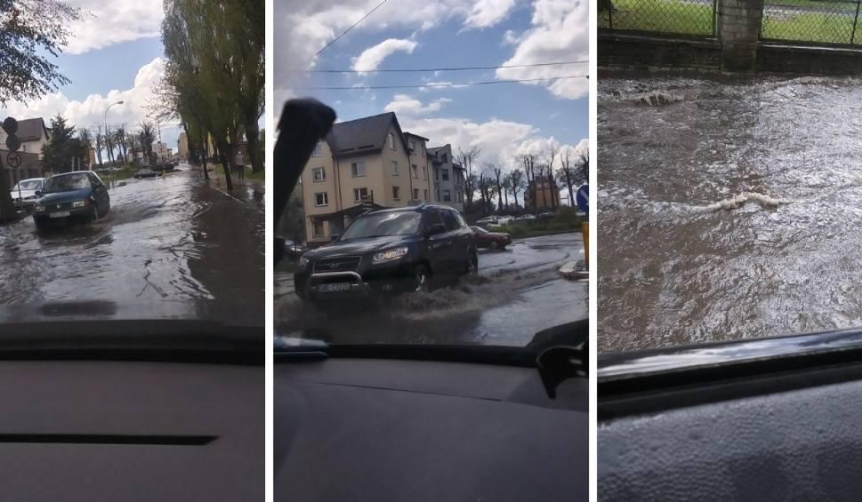 Film do artykułu: Majowe oberwanie chmury w Pucku! 17.05.2021 r. Rzeki wody na ulicach, zalane przejścia dla pieszych i chodniki ZDJECIA i FILM