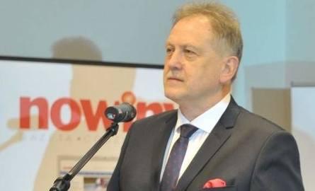 "Marek Bluj, dziennikarz ""Nowin""."
