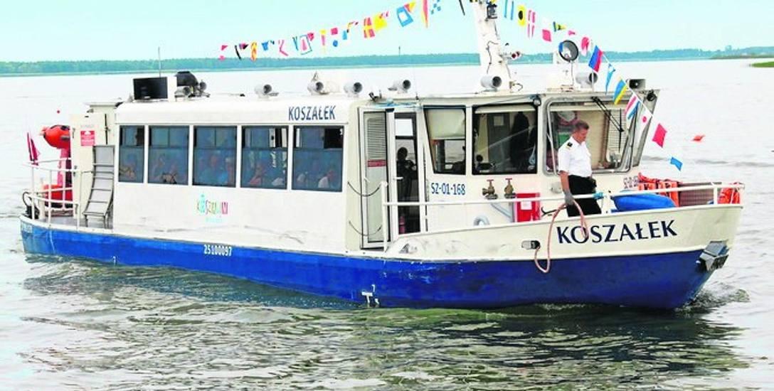 Statek Koszałek pływa jeszcze do najbliższej niedzieli włącznie; potem będzie miał przerwę do następnych wakacji