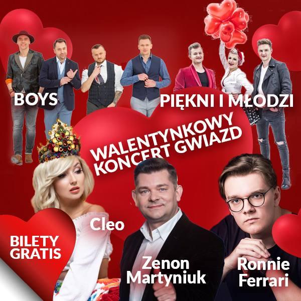 Bilety na Walentynkowy Koncert Gwiazd - 8 lutego