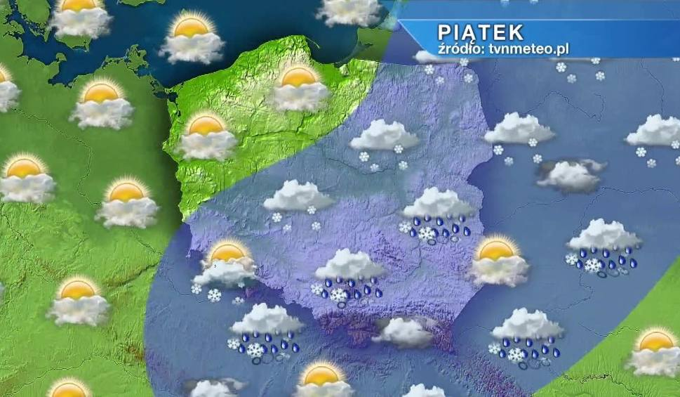 Film do artykułu: Piątek ze śniegiem, ale i przejaśnieniami w całym kraju. Weekend będzie pogodny w całym kraju