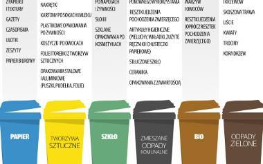 Tak docelowo powinniśmy segregować śmieci w nowym  roku